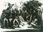 Chief Of State Posters - Political Cartoon Of The Confederacy Poster by Photo Researchers