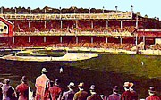 Baseball Stadiums Painting Framed Prints - Polo Grounds In New York City 1920s Framed Print by Dwight Goss