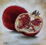 Pomegranate Framed Prints - Pomegranate Framed Print by Ilse Kleyn