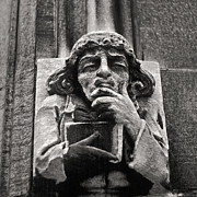 Joseph Duba Metal Prints - Pondering Gargoyle University of Chicago 1976 Metal Print by Joseph Duba