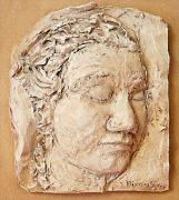 Bas Relief Sculpture Reliefs - Pondering by Sharon Dixon