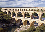 Languedoc Posters - Pont du Gard Poster by Rod Jones