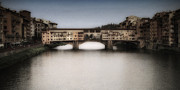 Vintage Digital Art Prints - Ponte Vecchio Print by Andrew Soundarajan