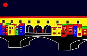 Ponte Vecchio Inspirations Print by Asbjorn Lonvig