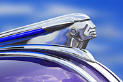 Vintage Digital Art Metal Prints - Pontiac Hood Ornament  Metal Print by Mike McGlothlen