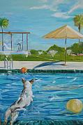 Large Scale Originals - Pool Party II by Terrence  Howell