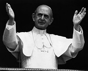 Vi Acrylic Prints - Pope Paul Vi, Circa Early 1970s Acrylic Print by Everett