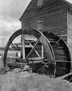 Old Mills Prints - Poplar Grove Tide Mill Was Driven Print by Everett