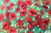 Poppies Field Paintings - Poppies by Lena Navarro