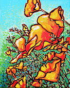 Nadi Spencer Painting Metal Prints - Poppies Metal Print by Nadi Spencer