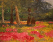 Julie Lueders Artwork Originals - Poppy Meadow by Julie Lueders