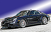 Samuel Sheats Posters - Porsche 911 Carrera Poster by Samuel Sheats
