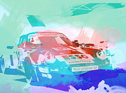 Watercolor Digital Art Prints - Porsche 911  Print by Irina  March