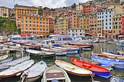 High Rise Framed Prints - Port of Camogli Framed Print by Joana Kruse