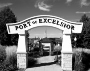 Rock Shelter Metal Prints - Port of Excelsior Metal Print by Perry Webster