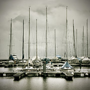 Rainy Photos - Port On A Rainy Day by Joana Kruse
