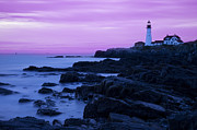 New England Lighthouse Framed Prints - Portland Head Lighthouse Framed Print by Brian Jannsen
