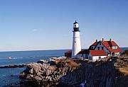 Portland Lighthouse Prints - Portland Headlight Print by Rockstar Artworks
