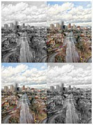 City Photography Digital Art Prints - Portland Oregon Print by Cathie Tyler