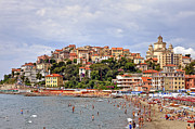 Old Houses Metal Prints - Porto Maurizio - Liguria Metal Print by Joana Kruse