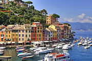 Houses Framed Prints - Portofino Framed Print by Joana Kruse