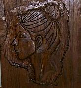 Carving Reliefs Originals - Portrait of a Woman by G Peter Richards