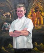 Gourmet Originals - Portrait Of Chef Gordon Ramsay by Douglas Manry