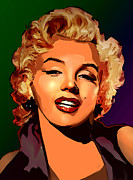 Superstar Mixed Media Prints - Portrait of Marilyn Monroe Print by Christian Simonian