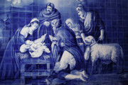 Religious Art Photos - Portuguese Azulejo tiles by Gaspar Avila