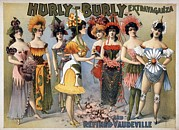 Poster For The Hurly-burly Extravaganza Print by Everett