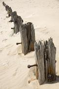 Old Objects Photos - Posts In Sand by John Short