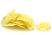 Junk Food Posters - Potato chips Poster by Blink Images