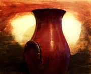 Poster From Digital Art - Pottery From Italy by Marsha Heiken