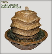 Framed Prints Ceramics - Pottery water fountain by Thien Phu Fine Arts