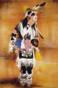 People Pastels Framed Prints - Pow Wow Baby Framed Print by Deb Owens
