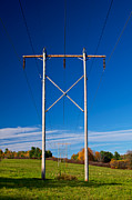 Powerlines Framed Prints - Power Lines Framed Print by Mike Horvath