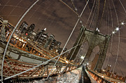 Brooklyn Bridge Prints - Power of Perspective Print by Joshua Ball