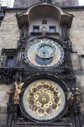 Medieval Style Prints - Prague Astronomical Clock Print by Andre Goncalves
