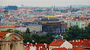 Prague Digital Art Framed Prints - Prague Skyline Framed Print by Pravine Chester