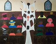 Gospel Prints - Praise Dancers Print by Karen Terry