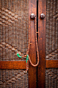 Mahogany Prints - Prayer beads Print by Tom Gowanlock