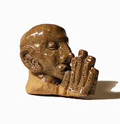 Male Ceramics Prints - Prayer Print by John Keasler