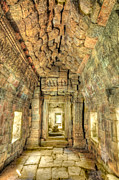 Siem Reap Posters - Preah Khan gallery Interior Poster by MotHaiBaPhoto Prints
