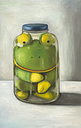 Humor. Paintings - Preserving Childhood by Leah Saulnier The Painting Maniac