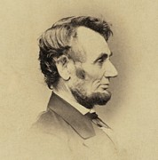 Lincoln Photos - President Abraham Lincoln 1809-1865 by Everett