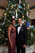 President And Michelle Obama Pose Print by Everett