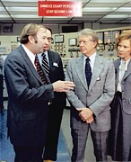Power Plants Prints - President And Rosalynn Carter Print by Everett