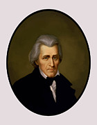 Founding Fathers Paintings - President Andrew Jackson by War Is Hell Store