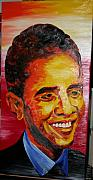 Barack Obama Oil Paintings - President Barack Obama oil painting by Brandon Notch by Brandon Notch