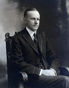 Old Face Framed Prints - President Calvin Coolidge Framed Print by International  Images